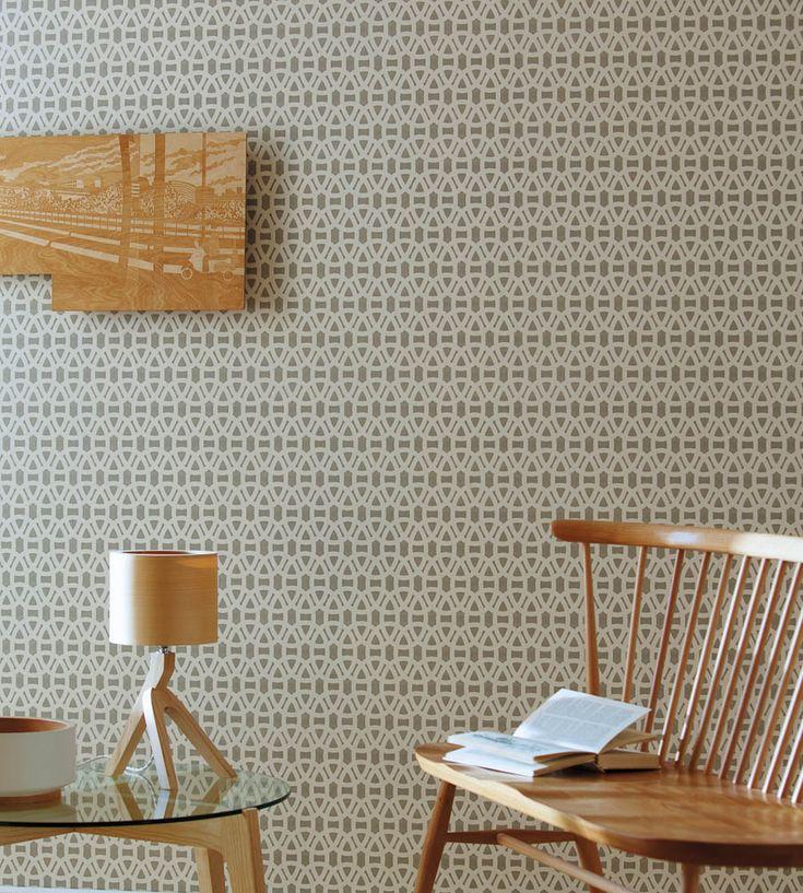 Interior Design Classic, Retro | Lace Wallpaper by Scion | Jane Clayton