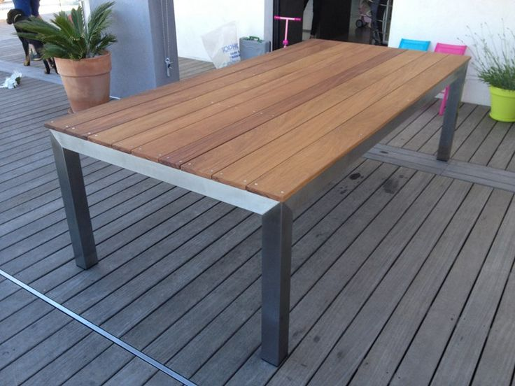 17 best images about piettement table exterieur on for Table exterieur inox