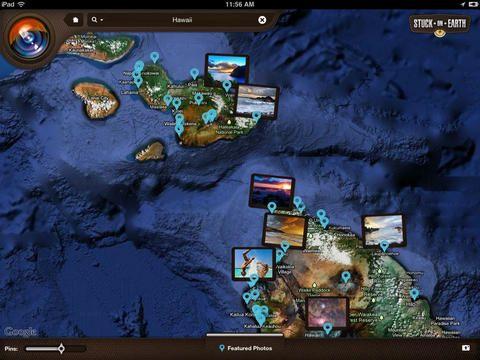 Stuck On Earth - En makalös app att dagdrömma sig bort i - att föra samtal runt platser, runt bilder, runt drömmar, runt vardagen, runt platser vi hört om.