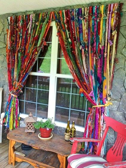 ☮ American Hippie Bohéme Boho Lifestyle ☮ DIY Curtains