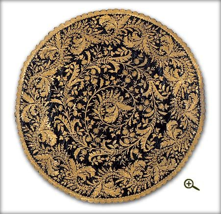 http://magic.qirim.org/muzei/ottoman/1965-14-1_big2.jpg  a beautiful rococo style cover with gold thread used in this design.