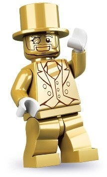 Lego Mr. Gold Minifigure, Series 10 (2013)