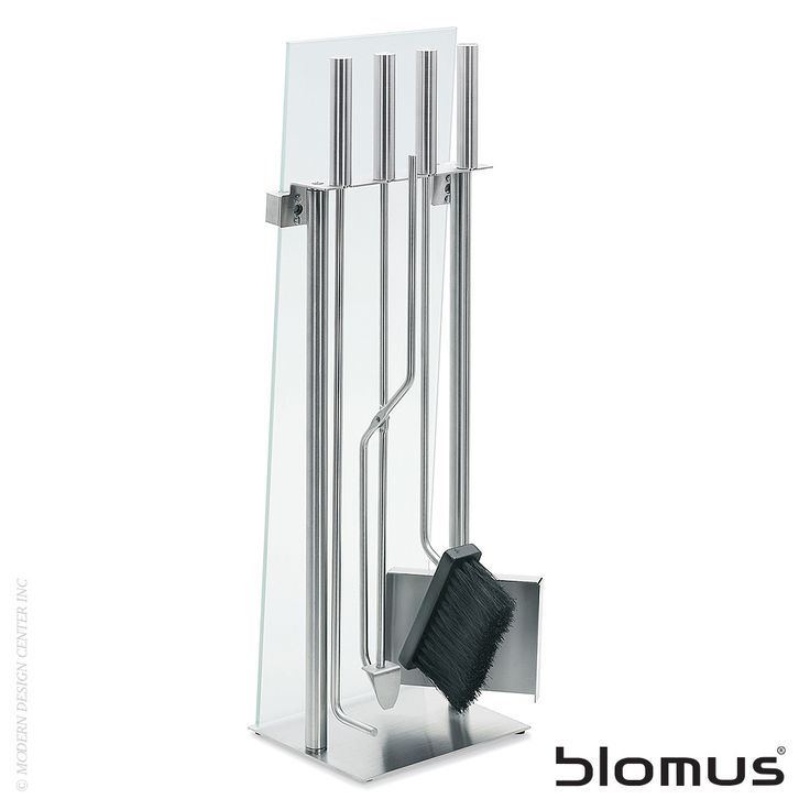 Blomus Chimo Fireplace Set Glass Front