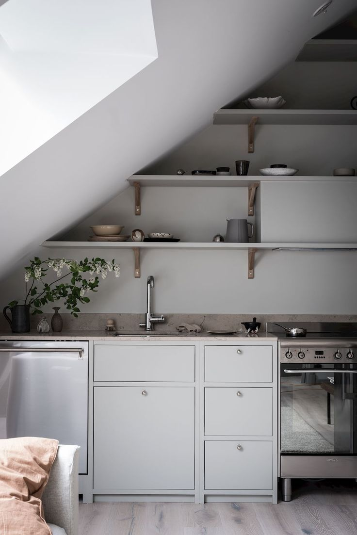 Beautifully Decorated Attic Home Coco Lapine Design Attic Apartment Attic Design Apartment