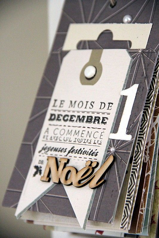 In French : » Calendrier de l'avent et December Daily – 2 en 1 ! - could adapt for many things