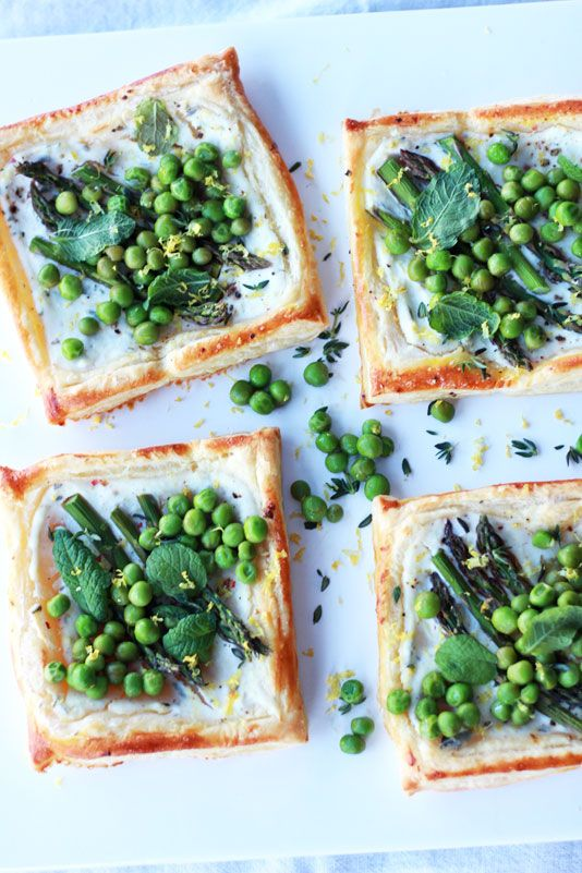 Spring Tarts with Asparagus, Peas & Mint These tarts taste like spring, and pack a lot of look for surprisingly little effort. No joke, I promise...it's my recipe!
