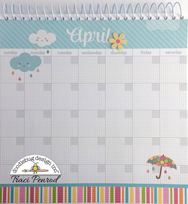 Artsy Albums Scrapbooking Kits and Custom Designed Scrapbook Albums by Traci Penrod: Doodlebug Calendar with Daily Doodles