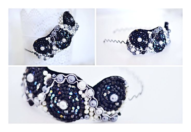 headband with beads and pearls