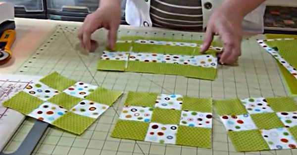 The following tutorial from Gourmet Quilter shows us how to turn our Fat Quarters into a lovely 9-patch block in the blink of an eye!