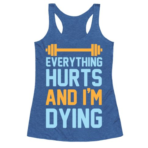 "This funny workout shirt is great for the lazy nerds who are trying to get in shape but are just getting their ass kicked by cardio and lifting weights like ""everything hurts and I'm dying."" This gym shirt is perfect for fans of lazy jokes, gym jokes, fitness shirts and lifting shirts, also parks and rec!"