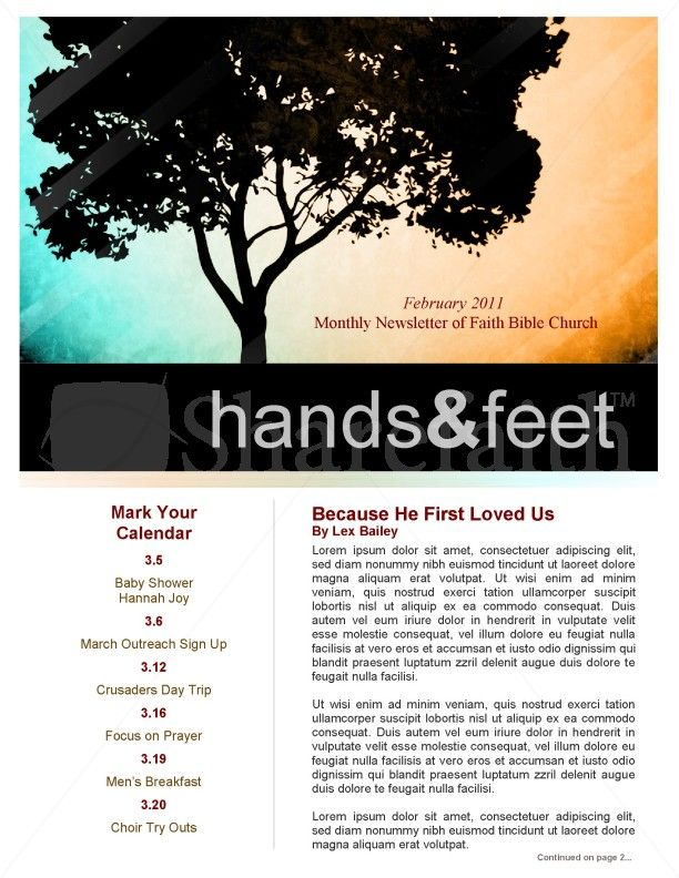 8 Best Church Newsletters Images On Pinterest | Newsletter