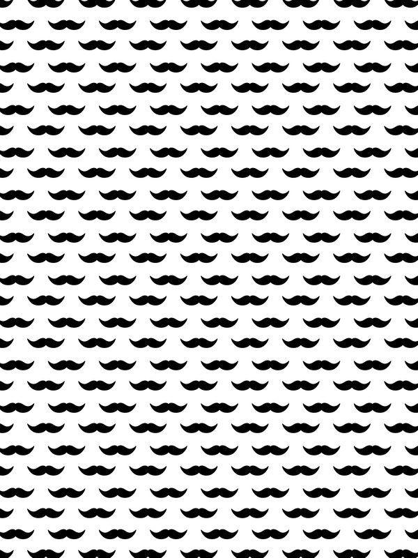 Mustache Pattern - UrbanArts