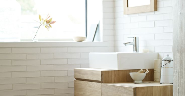 Fired earth ladrillo white tiles bathrooms for bathing for Fired earth bathroom ideas