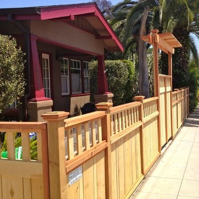 Best 877 craftsman homes images on pinterest architecture for Craftsman style fence