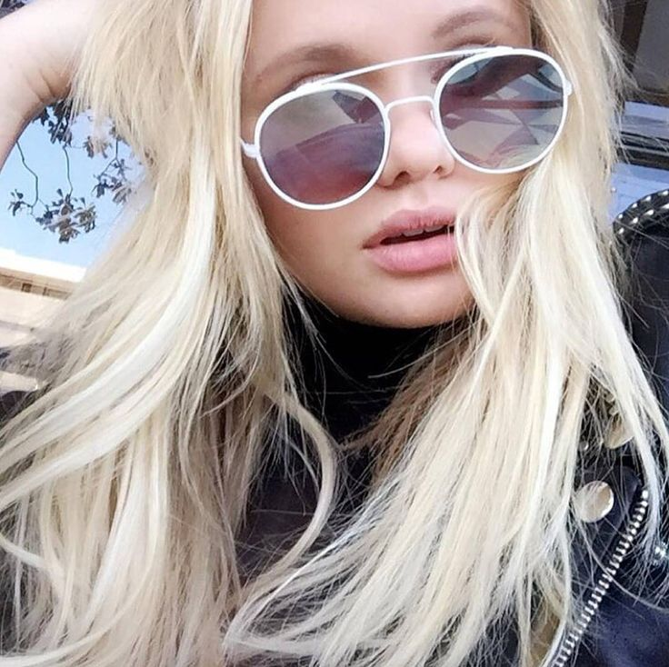 Blonde bombshell @allisimpson in the white PARKERs. Shop link in our bio... Also remember to view our range of on-trend white frames, all available on our website. www.sundaysomewhere.com  #sundaysomewhere