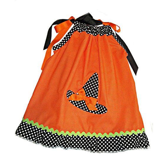 Little Girl Halloween Dress witchs hat