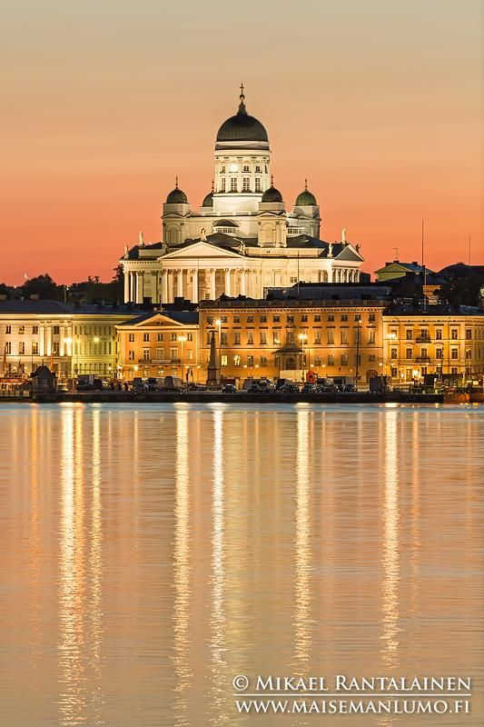 Helsinki Cathedral and Market Square from Ehrenströmintie, Helsinki, Finland (15.7.2014)