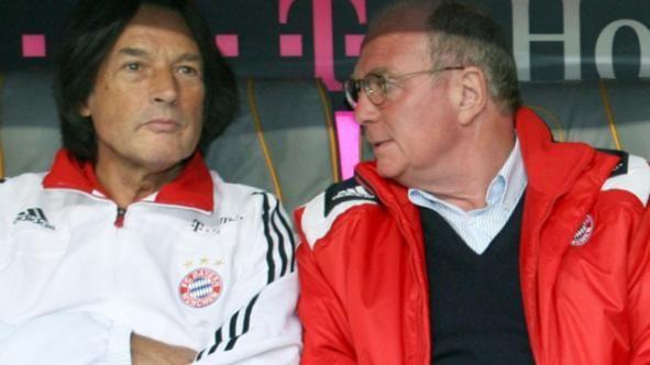 Bayern-Präsident Uli Hoeneß (r.) mit Teamarzt Hans-Wilhelm Müller Wohlfahrt