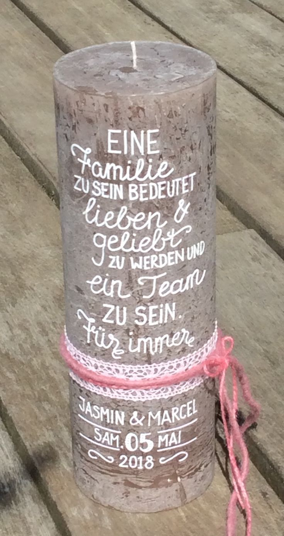 Hochzeitskerze 30×10 cm – #30×10 #cm #Hochzeitsker…