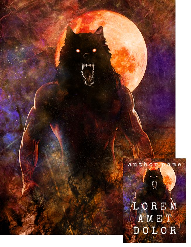Moonkiller Werewolf Premade Book Cover by Viergacht
