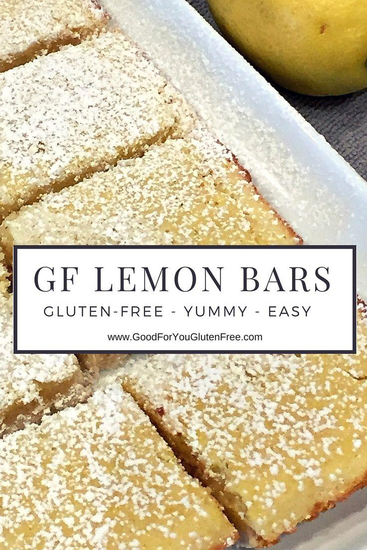 Gluten-Free Lemon Bars Recipe - #goodforyouglutenfree
