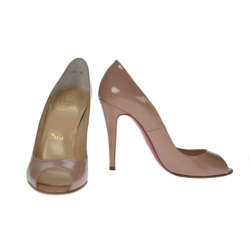 Christian Louboutin Pump Nude Patent Leather Size 39 Authentic Pre Owned |  eBay