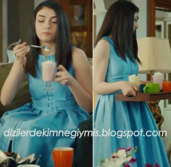 Medcezir - Eylül (Hazar Ergüçlü), Blue Dress