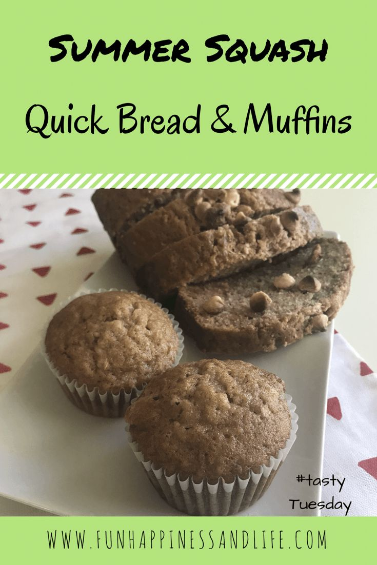 Shredded summer squash can be baked into a delicious quick bread or muffins. A snack that's a dessert with a vegetables mixed in. Make it for your family and enjoy it yourself.