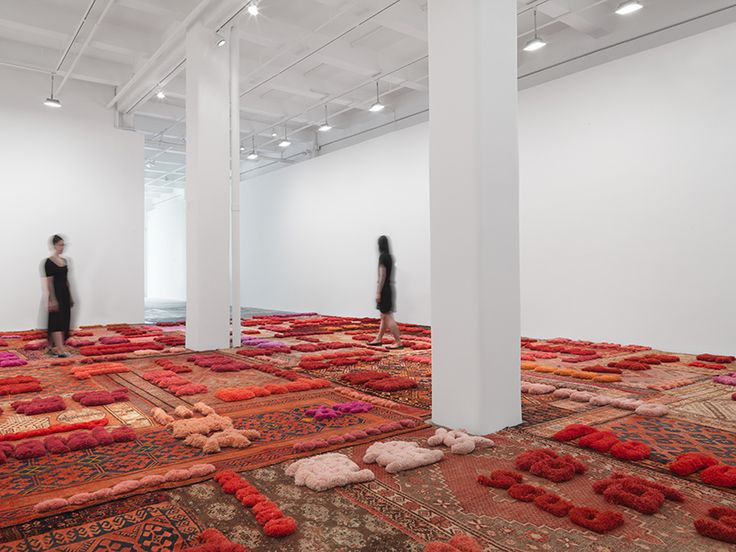 lin tianmiao weaves 'protruding patterns' at galerie lelong & co. in new york