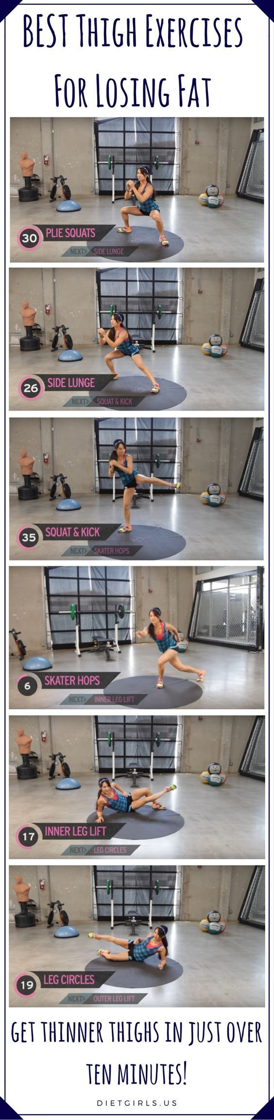 On today's episode of XHIT, fitness trainer Kelsey Lee shows you how to get thinner thighs in just over ten minutes!