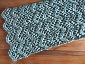 Crochet Pattern: Lacy Chevron Table Runner