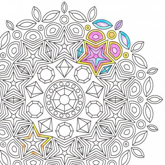 mandala coloring page inset simplicity instant download mandala art coloring page rainy day activity and get well soon gift