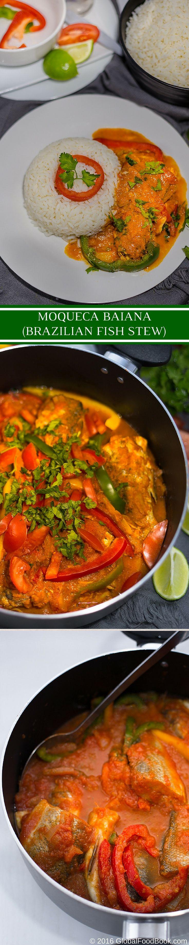 BRAZILIAN FISH STEW). This exotic moqueca baiana (Brazilian fish stew ...