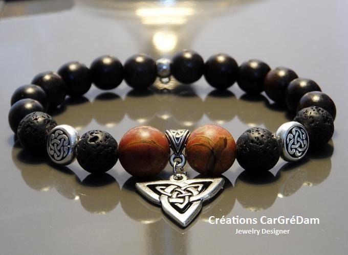 Shamballa homme bracelet tibétain noeud et croix celtique argent : Bijoux pour hommes par shamballa-s-cargredam1