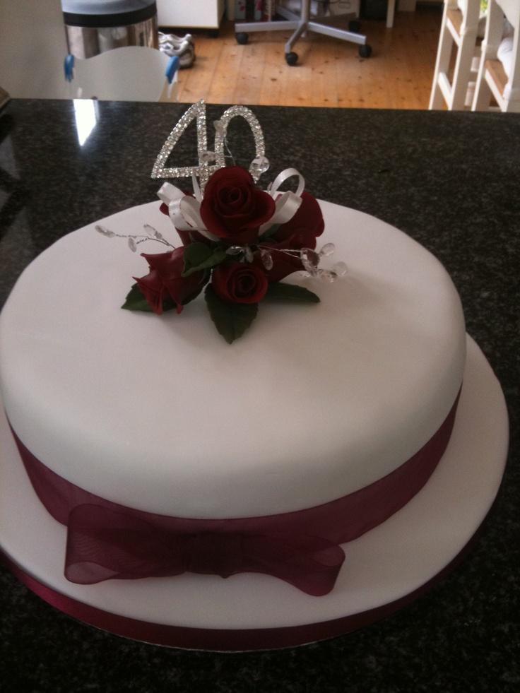 40th Wedding Anniversary Cake. Mom and Dad 40th