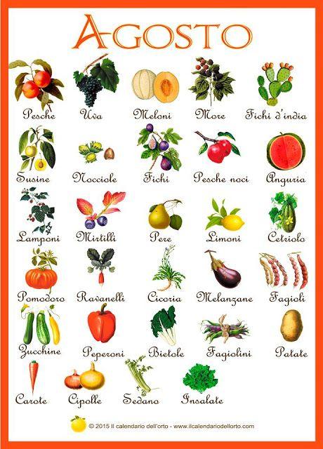 Briciole di Sapori: Agosto... il calendario della natura