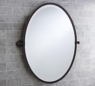 Kensington Pivot Oval Mirror Alternate For Guest Bath