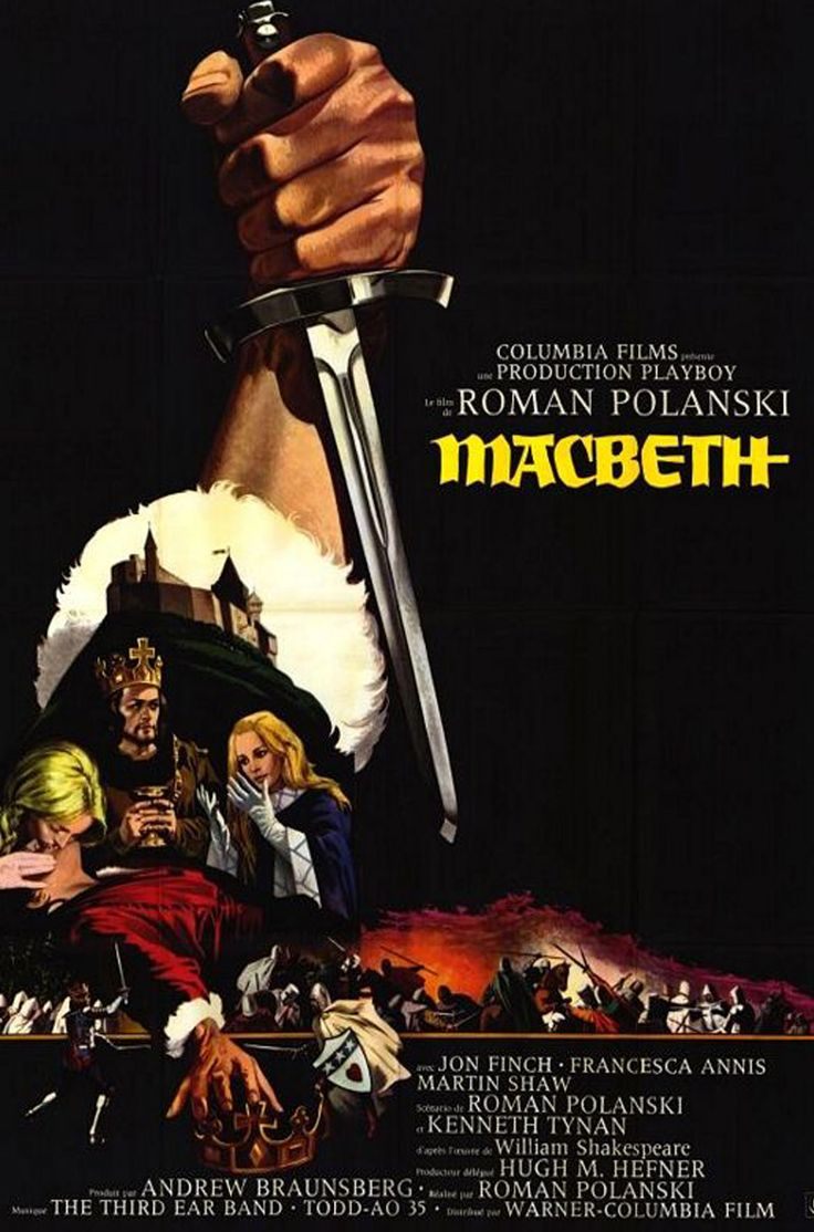 Macbeth (1971) . Perhaps one of, if not THE best Shakespeare adaptation. Also one of Polanski's best efforts.