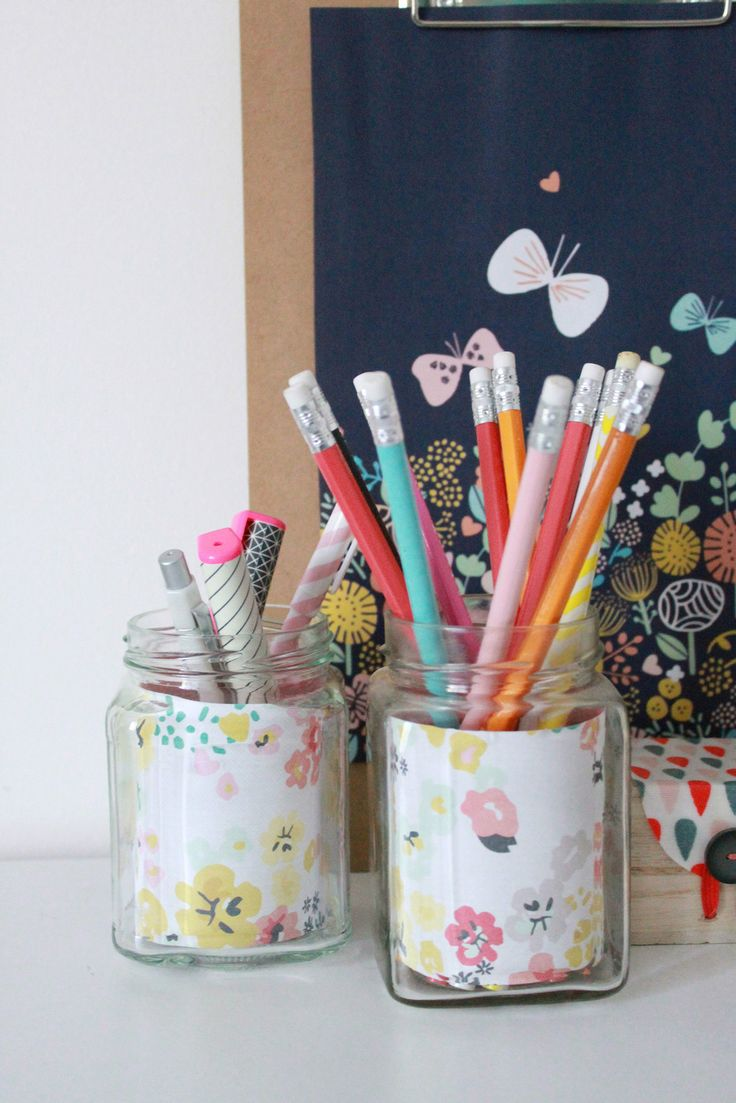 Vase et pots pour sa déco - Avec ses 10 ptits doigts - blog DIY   Bocaux pots à crayons