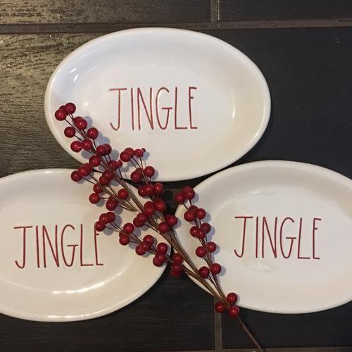 Rae Dunn Jingle Appetizer Christmas Plates Rae Dunn For