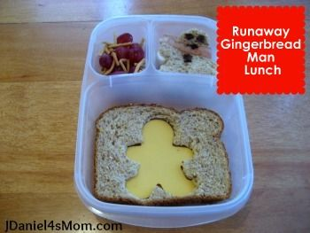 Runaway Gingerbread Man Bento Lunch