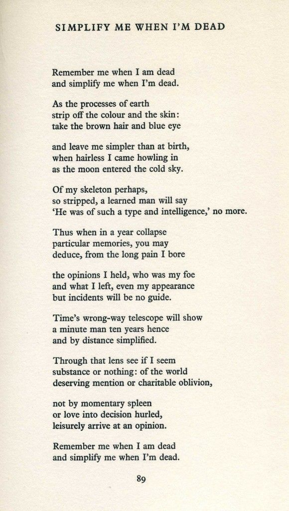 More Keith Douglas from his Collected Poems (1966) - Simplify Me When I'm Dead