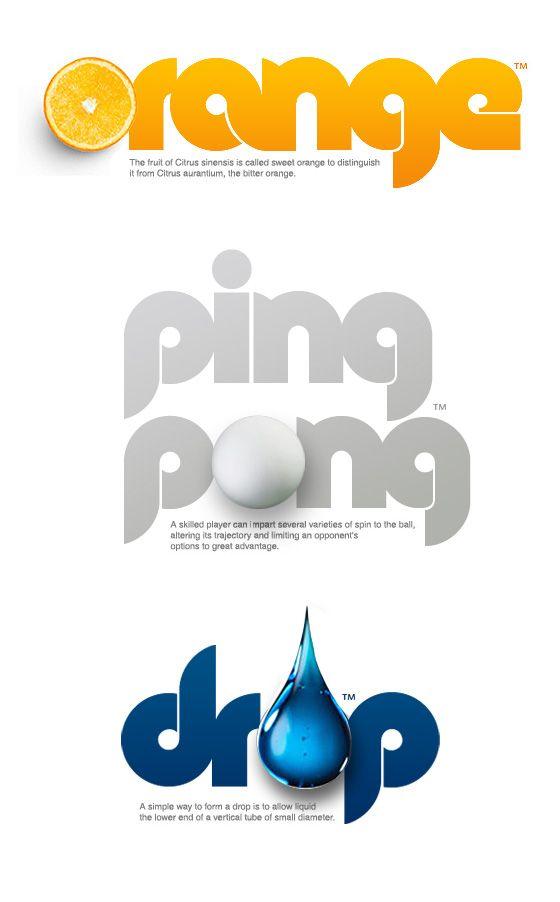 #logo #verbicon #orange #ping pong #drop Colo Pro™ by Fontfabric