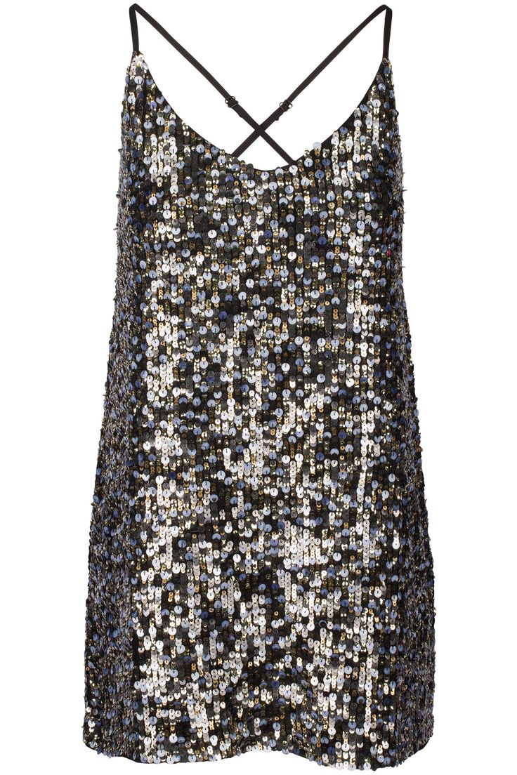 MELIE - KENDALL+KYLIE Multi sequined dress