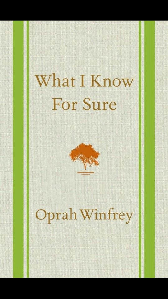Inspiring insights from Oprah's experiences. Light reading...