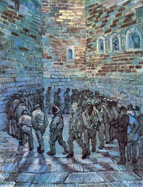 Φυλακισμένοι στο προαύλιο - 1890 (από έργο του Γκιστάβ Ντορέ)