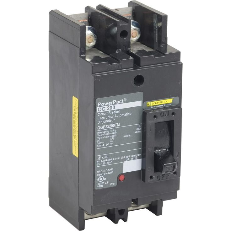 Square D Powerpact 200 Amp 65ka 2 Pole Q Frame Molded Case Circuit Breaker Circuit Locker Storage Home Depot