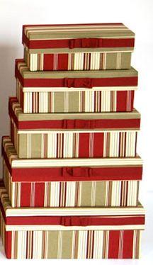 Scatole rivestite di tessuto set da 5 pezzi misure: scatola più grande 40x30x18cm + 4 scatole a scalare prezzo speciale 49 euro visita il nostro shop sulla pagina https://www.facebook.com/pages/ASOLA/489584474432784?id=489584474432784&sk=app_251458316228