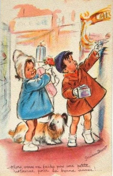 """Germaine Bouret """" Alors, vous ne faites pas une petite ristourne pour la bonne année ! ..."""""""