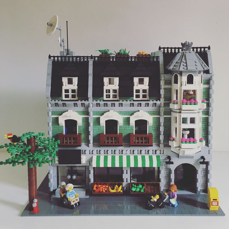 My version of classic Green Grocer. I have yet to finish the interior. http://www.flickr.com/photos/lego24061982/29743338730/